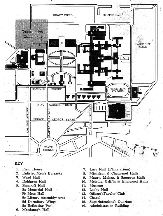 United States Naval Academy - Us naval academy campus map